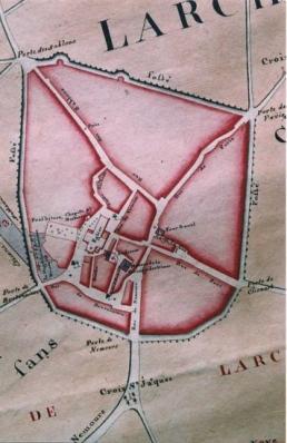 Plan de la Seigneurie de Larchant dit